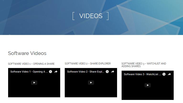 ShareFriend Pro Technical Analysis Software Help Videos